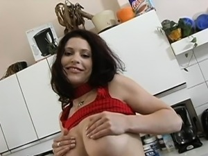 Fulfilling beauteous chicks horny cum-hole
