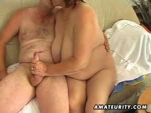Chubby mature amateur wife sucks and fucks free