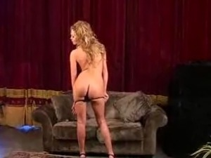 Lonnie strips, dances then plays around with a vibrator