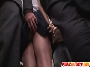 Asian office lady is in to public sex free