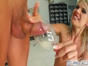 Cum For Cover Four cum shots in a wine glass free