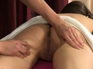 Pretty lesbian massage