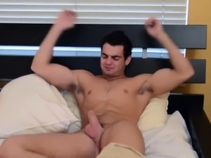 Muscle stud solo cumshot