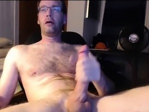 Jerking Hung Cut Cock