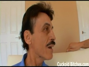 Watch me get fucked my little cuckold bitch free