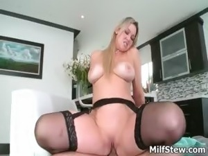 Horny big tits blonde milf fucking hard part2