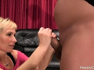 Milf cock massage - the warming up....