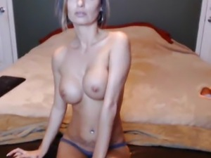 Busty MILF Grinds her Pussy on her Dildo