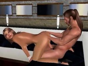 Tasty 3D cartoon brunette babe getting fuckced hard