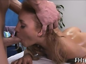 Tiny anal hole is drilled