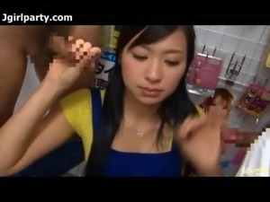 Hot Japan Adult Store Worker Blows The Customers