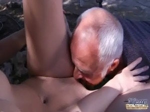 Oldman have to pleasures horny young landlady free
