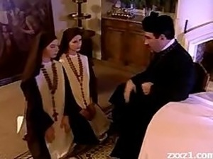 threesome with nun