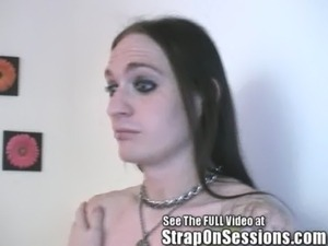 Goth looking Chris takes a butt plug fot the 1st time free