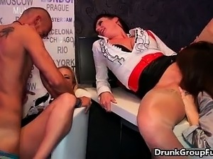 Hot and drunk redhead babe with cute part4