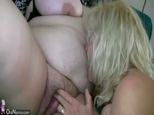 OldNanny Mature with big boobs masturbate with chubby Granny together free
