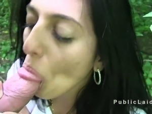 Brunette czech amateur babe with big boobs bent over takes huge dick from...