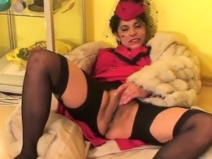 Fully Clothed Blowjop Furcoat Glamour Whore Outfit For Fucki
