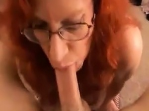 Busty Red Haired Granny Pleasing Dick POV