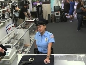 Miss Police officer sucks dick and fuck her pussy