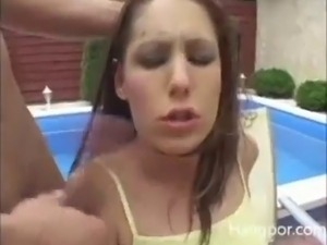 Teen Faces Covered In Cum 5