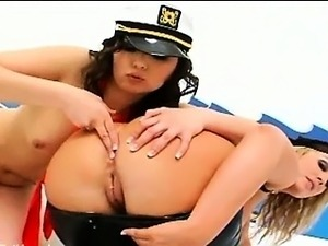unbelievably hot police anal threesome