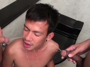 Fetish asian piss and cum