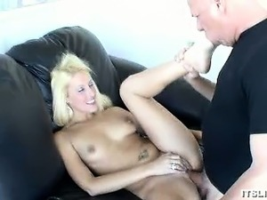 Blonde Bombshell Grinds On That Cock