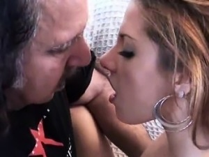 Pretty Brunette Teen Banged By Dirty Old Ron Jeremy