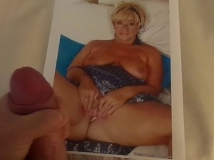 Blonde GILF Cum Tribute