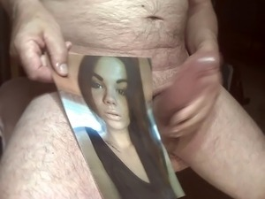 Tribute for martzw - facial cum on sexy lips