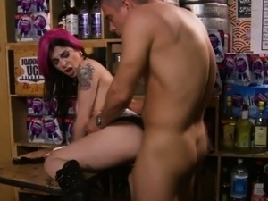 Goth rimmed and fucked