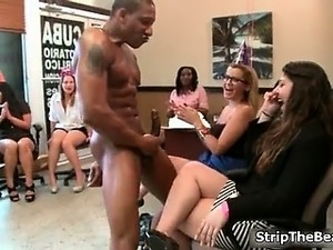 Hard bodied male stripper getting naked part4