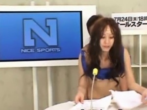 News Reader Gets Bukkaked!