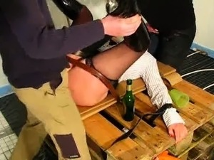 Amateur wife violently fisted by two builders