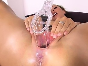 danish model gaping with gyno toys