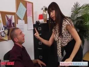 Office milf babe in stockings Dana Dearmond fucking free