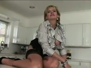 Lady Sonia toys herself with vibrator