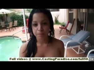Abella Anderson independent brunette teen babe with big tits doing blowjob...