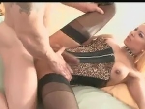 blonde shemale sucked and fucked