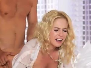 sweet blonde coitus hard in bedroom