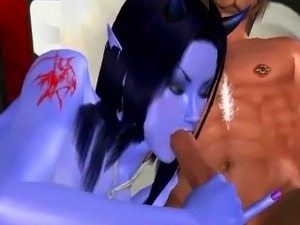 Sexy 3D Avatar alien babe getting fucked hard