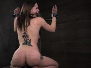 Open mouth gagged subs ass whipped