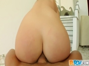 Pure POV secretary with glasses fucked in the ass free