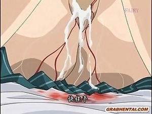 Swing bondage hentai gangbanged by bandits