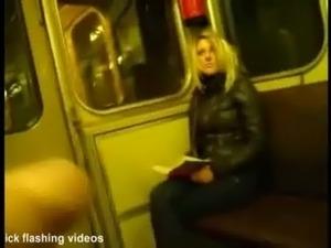 Train Masterbate To Blonde Woman   www.TheGooTube.com free