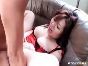 Horny Asian mature lady loves getting part2