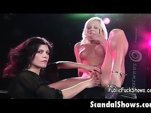 Sexy blonde babe gets her wet pussy part3