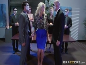 Big Tits At Work - Courtney Taylor Tommy Gunn & Will Powers in Occult Office...