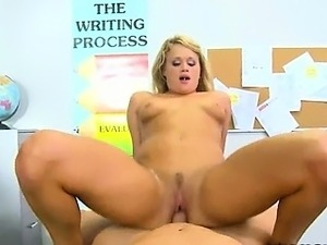 amazing blonde frolicking with teacher